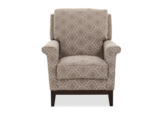 Trellis-Patterned Casual 32'' Pressback Recliner in Silt