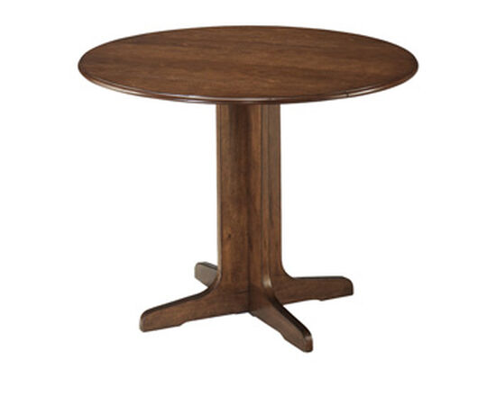 "Casual 40"" Round Dining Table in Medium Brown"
