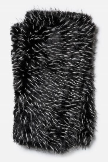 """Contemporary 4'-2""""x5' Throw in Black/White"""