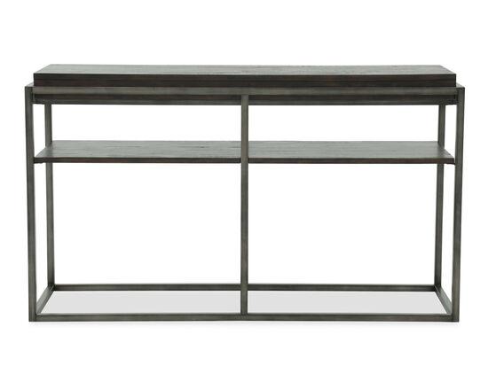 Open Shelf Casual Sofa Table in Rustic Pine