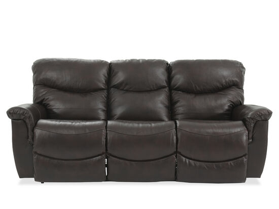 "87"" Leather Power Reclining Sofa in Dark Brown"