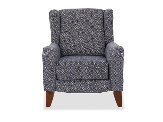 "33"" Contemporary Wingback Recliner in Blue"