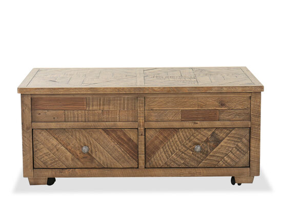 Traditional Lift-Top Cocktail Table in Pine