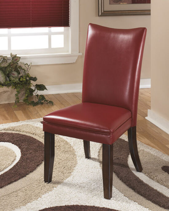 """Contemporary 20"""" Upholstered Side Chair in Red"""