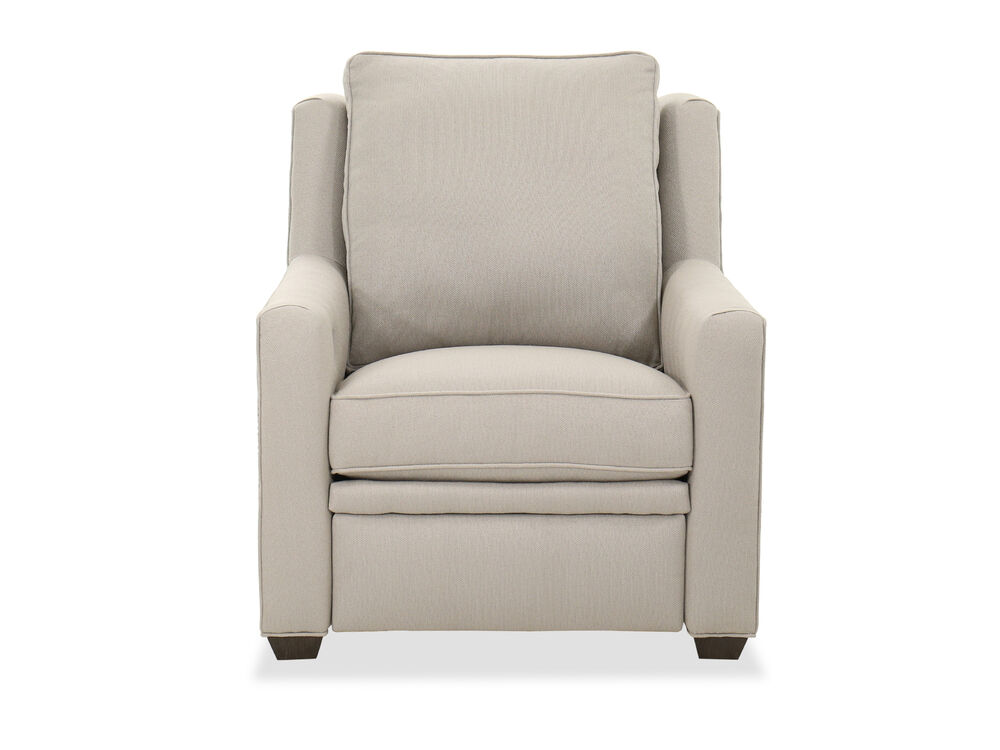 Transitional Upholstered Recliner in Gray