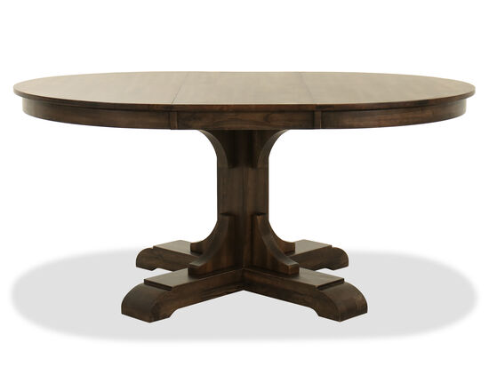 "48"" Contemporary Pedestal Table in Deep Gray"