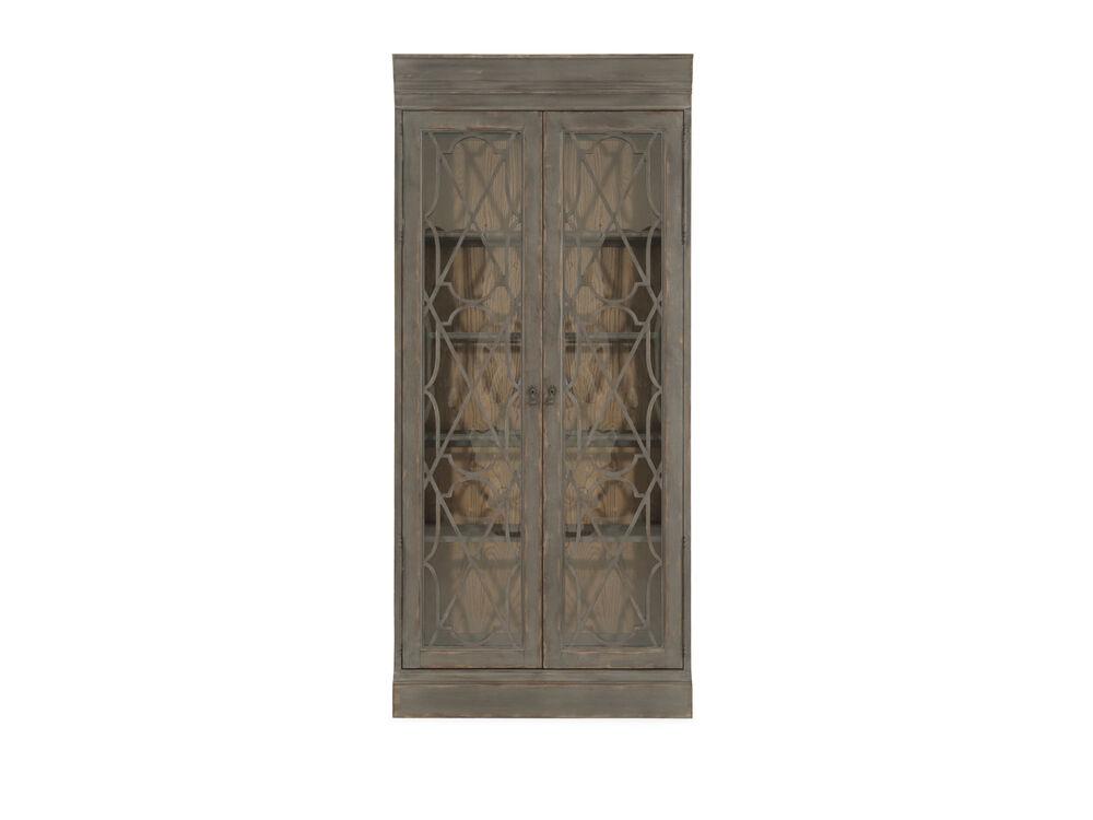 European Classic Bunching Display Cabinet in Dark Gray