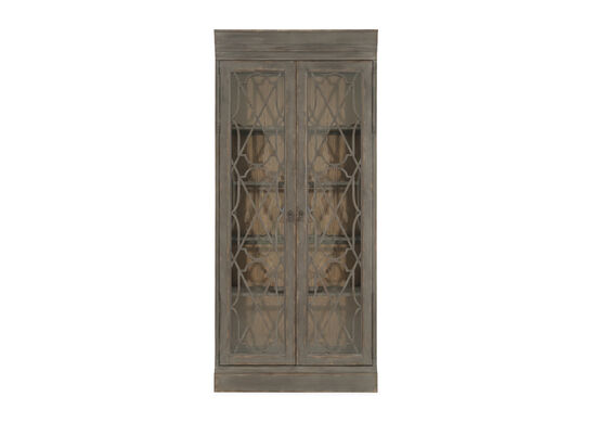 European Classic Bunching Display Cabinet in Dark Gray