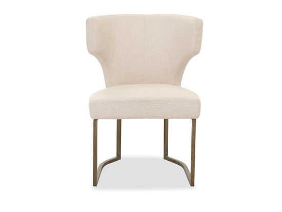 Contemporary Side Chair in Beige
