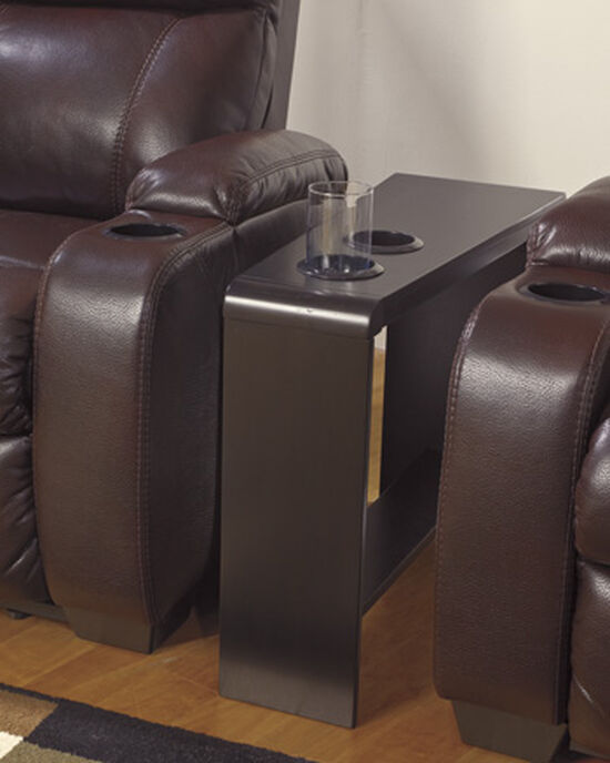 Rectangular Contemporary End Table in Almost Black