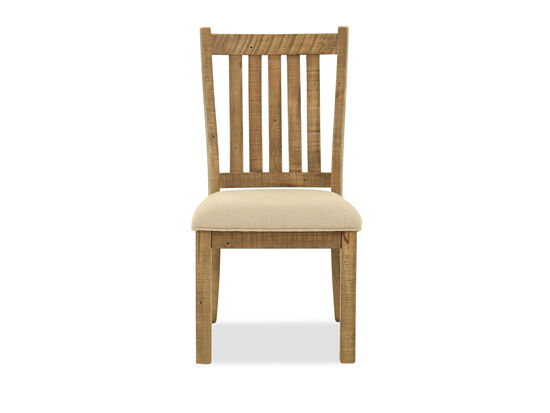 Slat Back Casual 40'' Dining Chair in Light Brown