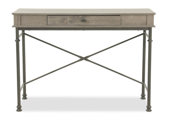 "42.5"" Trestle-Base Contemporary Console Desk in Dark Brown"