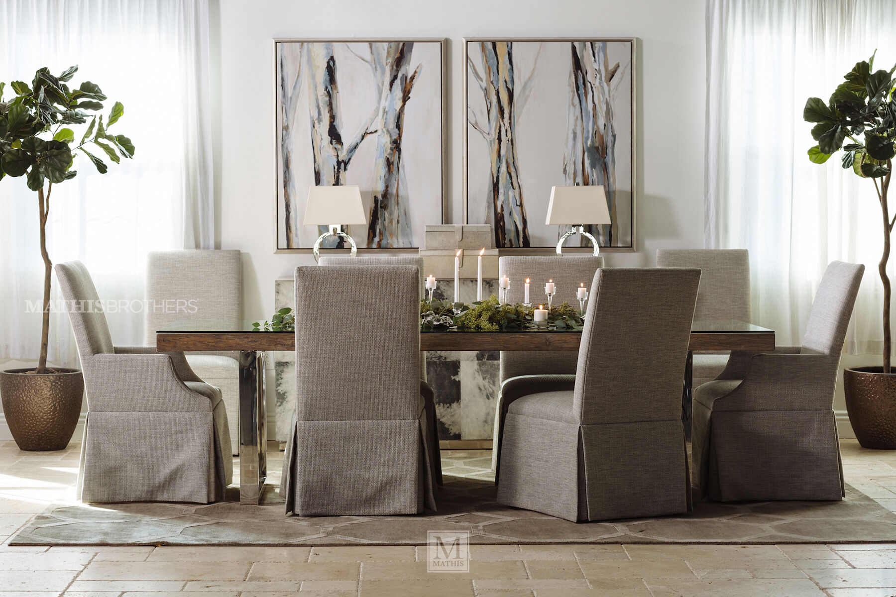 ... Modern 40u0026quot; Glass Dining Table In Light Brown