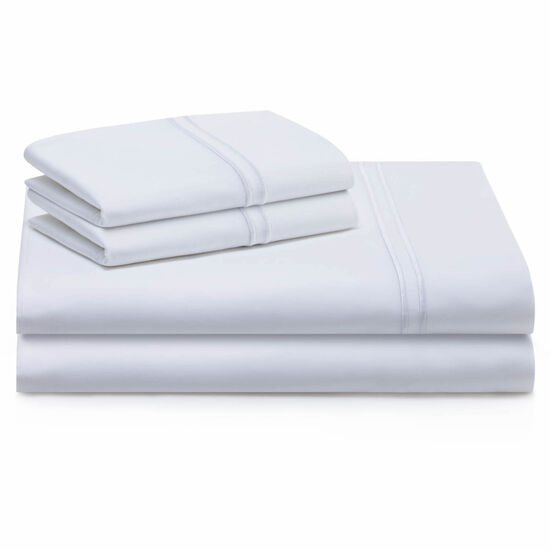 Malouf Supima Cotton Queen Sheet Set in White