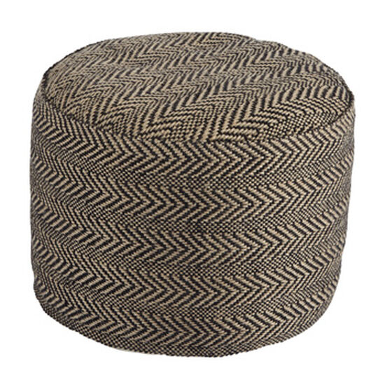 "Chevron Pattern Casual 20"" Pouf in Brown"