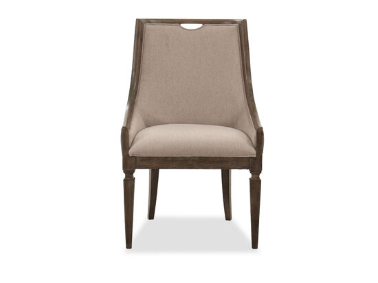 """40"""" Traditional Host Chair in Espresso/Oatmeal"""