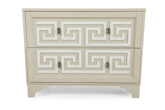 34'' Two-Drawer Contemporary Chest in Cream