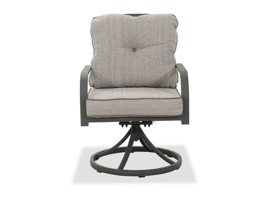 "Contemporary 25"" Swivel Chair in Gray"