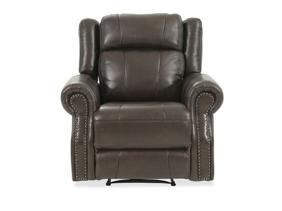 "Leather 41"" Power Recliner in Brown"