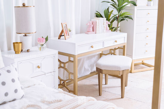 Modern Six-Drawer Jewelry Chest in White