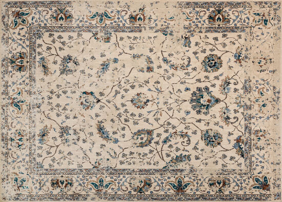 Magnolia Home Power Loomed 5'3''x7'8'' Rug in Ivory/Multi