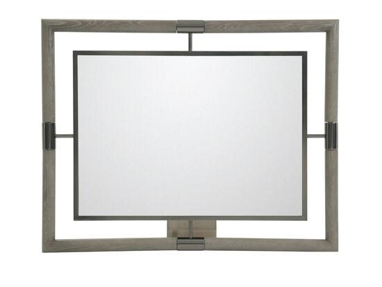 """46"""" Modern Rectangular Accent Mirror in Gray"""