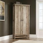 Two-Door Casual Storage Cabinet in Lintel Oak