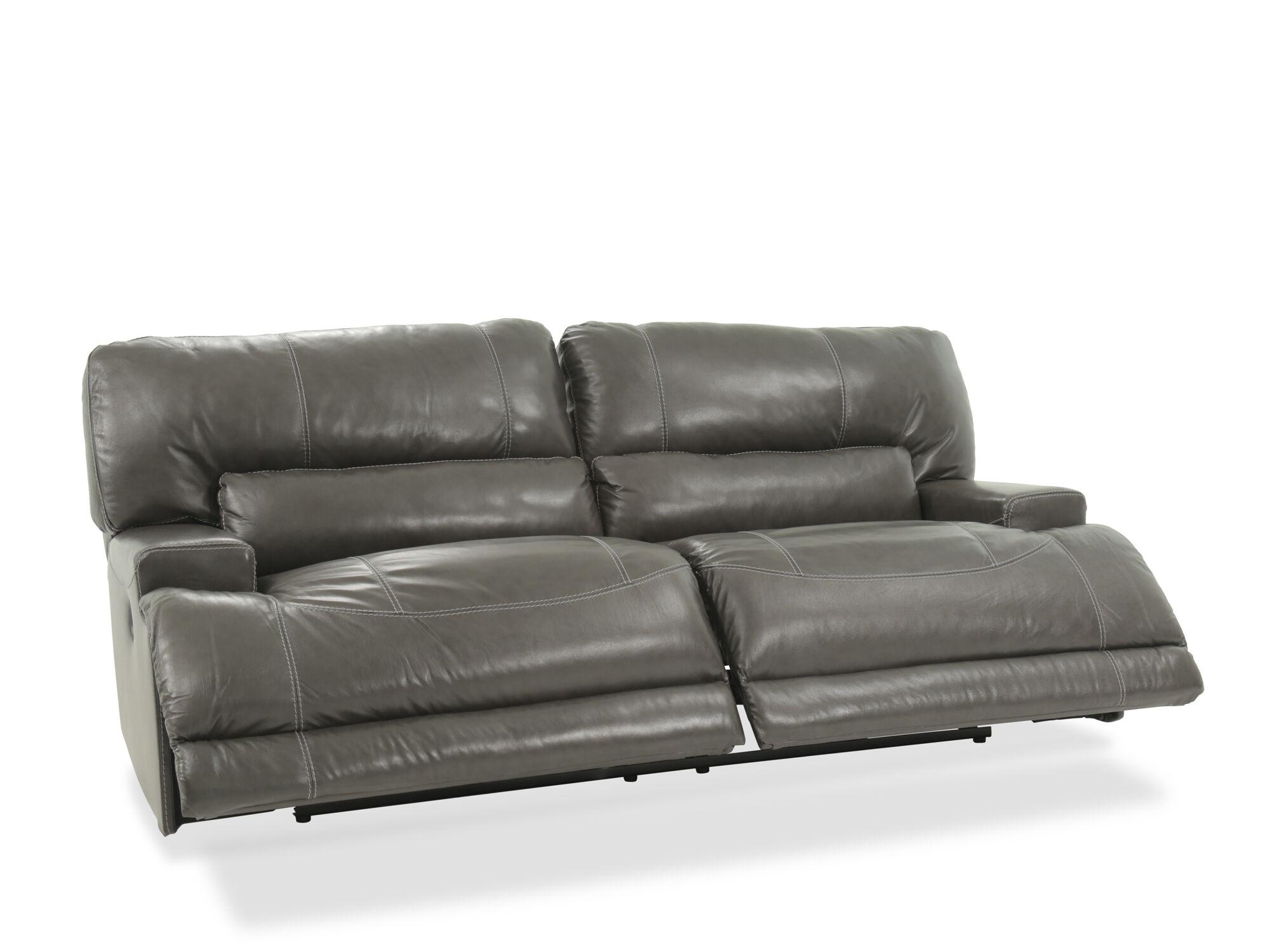 Contemporary 79u0026quot; Power Reclining Sofa In Gray · Contemporary 79u0026quot;  Power Reclining Sofa ...