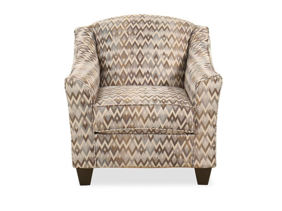 """34"""" Curved Arm Casual Accent Chair in Multi"""
