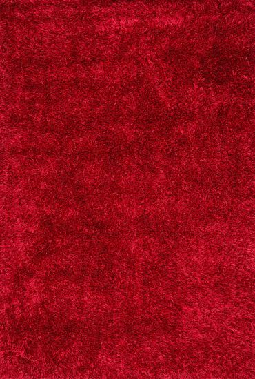 "Shags 3'-6""x5'-6"" Rug in Red"