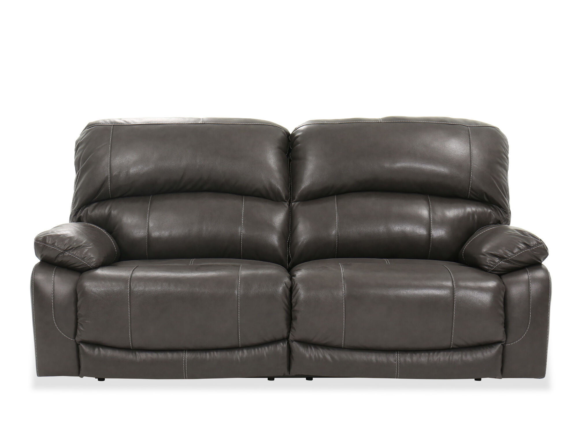 Contemporary 86 Quot Power Reclining Sofa In Gray Mathis