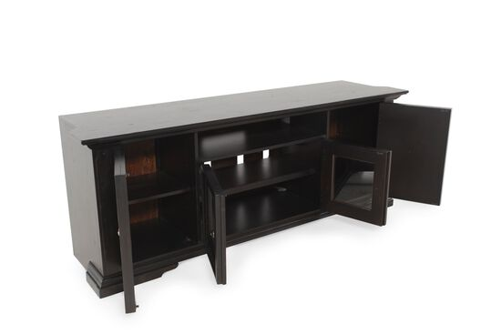 Electric Outlet Traditional Entertainment Console in Dark Macchiato