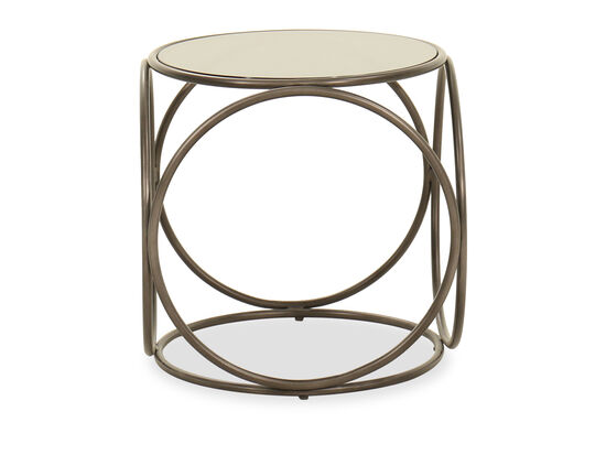 Round End Table in Light Brown