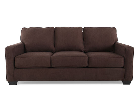 "Contemporary 82"" Queen Sleeper Sofa in Espresso"
