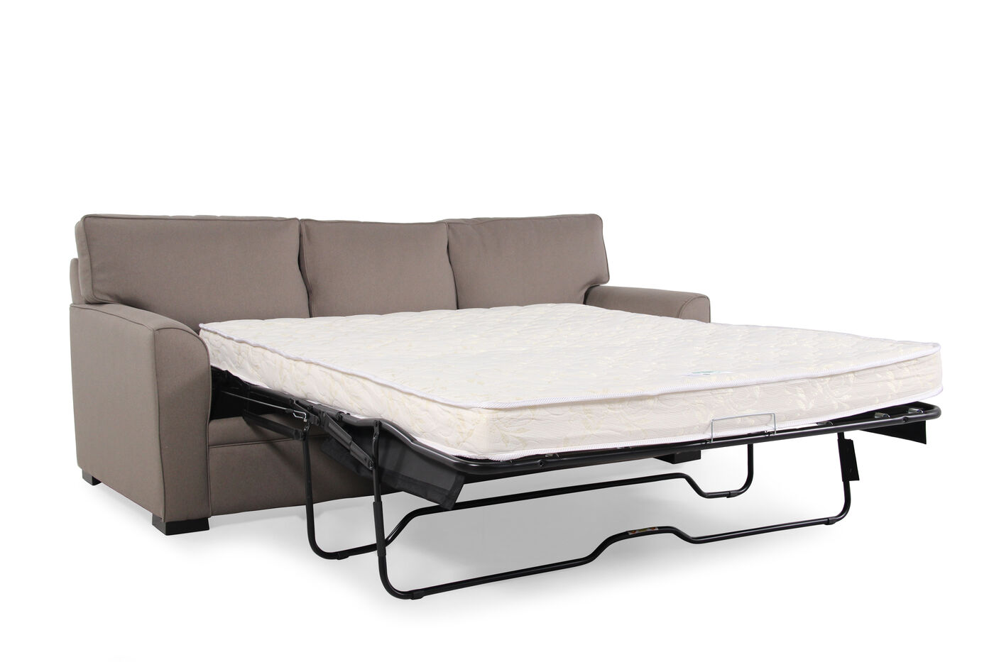 Traditional 83 Quot Queen Sleeper Sofa In Caf 233 Au Lait