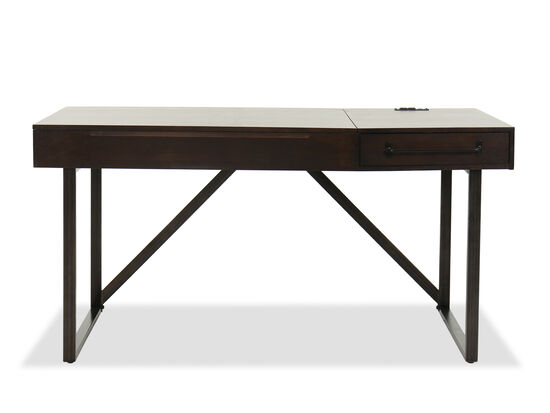 "60"" Contemporary Lift Top Desk in Walnut"