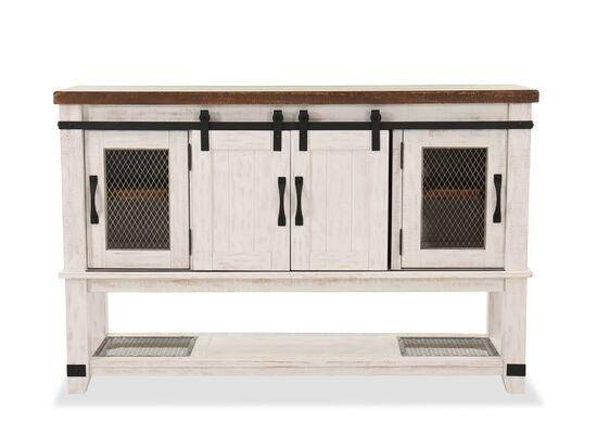 "Four-Door 65"" Dining Room Server in Vintage White"