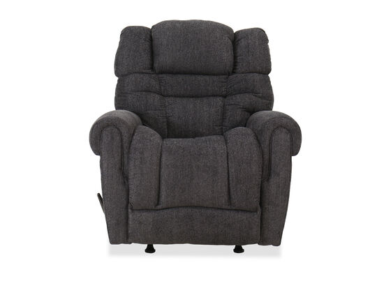 "Traditional 39"" Rocker Recliner in Charcoal"