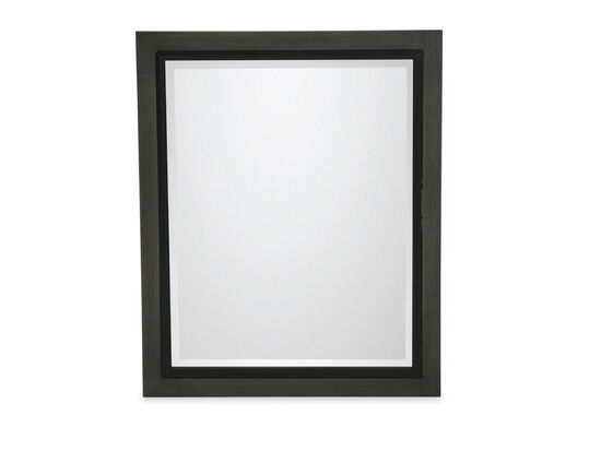 Beveled Traditional Youth Landscape Mirror in Graphite