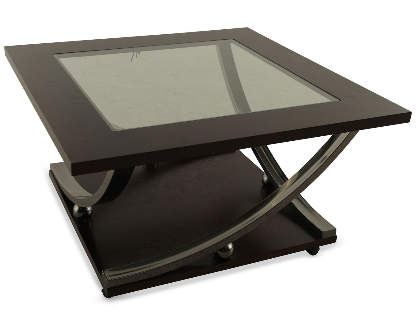 Square Contemporary Tail Table In Merlot Mathis Brothers