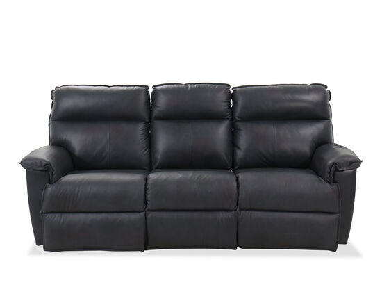 """Transitional 86.5"""" Power Reclining Sofa in Admiral"""