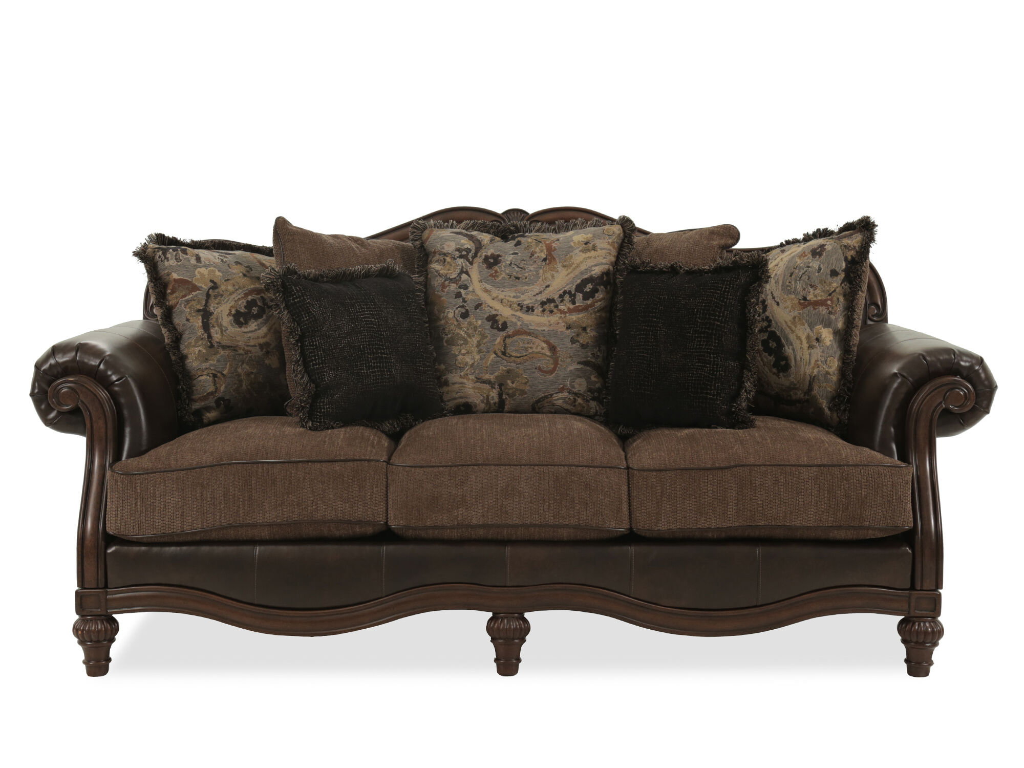 Images Traditional 91u0026quot; Rolled Arm Sofa ...