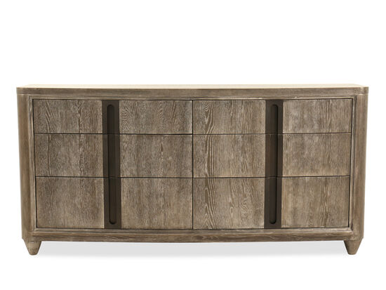 "35"" Contemporary Tumbled Dresser in White Oak"
