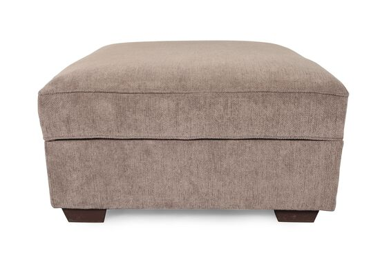 "Contemporary 38"" Storage Ottoman in Brown"