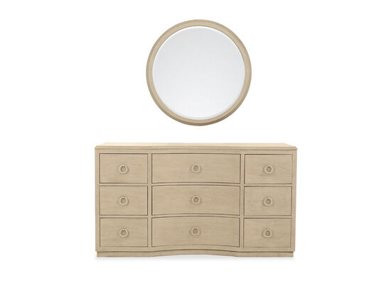 Two-Piece Casual Dresser & Mirror in Brown