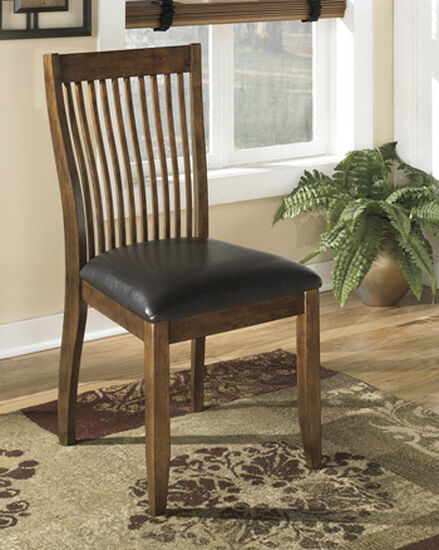 Comb Back 37'' Side Chair in Medium Brown