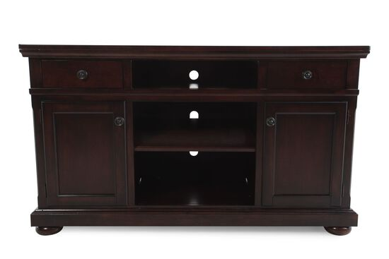 unusual solid wood media cabinet. Three Open Compartment Casual TV Stand in Cherry Stands  Consoles Tables Mathis Brothers