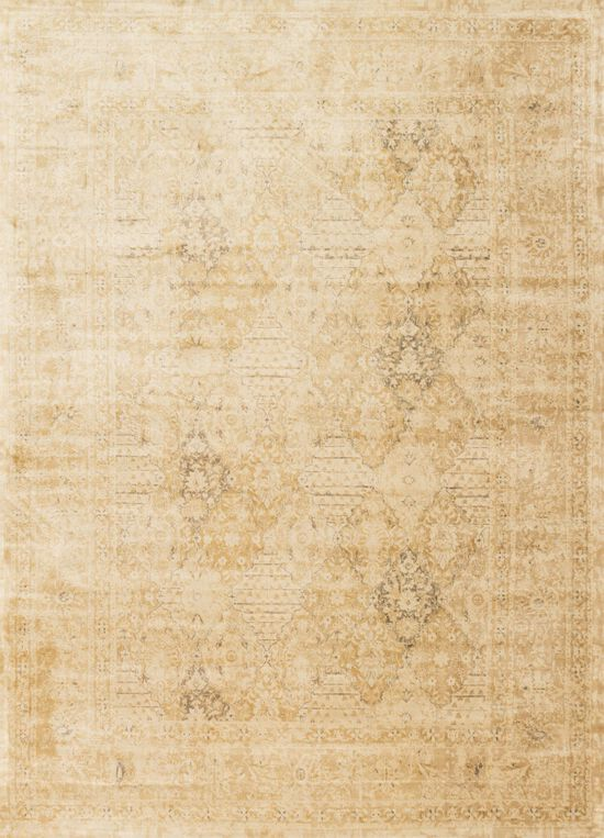 "Transitional 3'-3""x5'-3"" Rug in Light Gold"