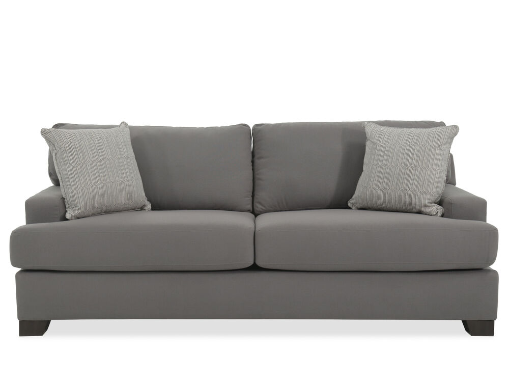 Transitional 87 Quot Sofa In Gray Mathis Brothers Furniture