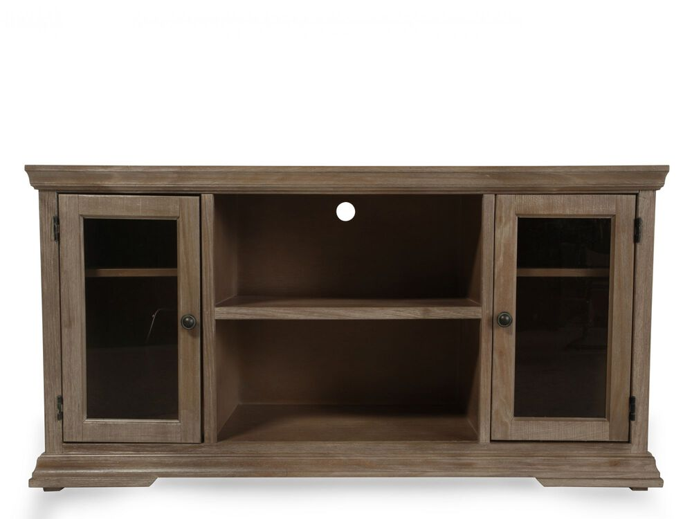 Two-Door Casual Console in Rustic Driftwood